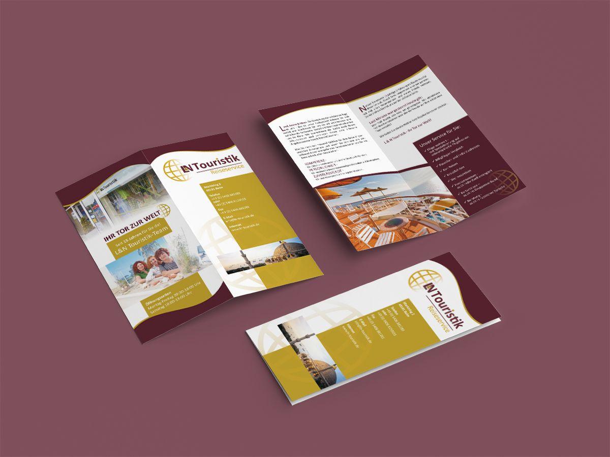 Flyer für das Reisebüro L&N Touristik