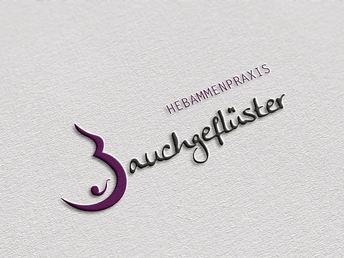 Logodesign für die Hebammenpraxis Bauchgeflüster aus Rheine