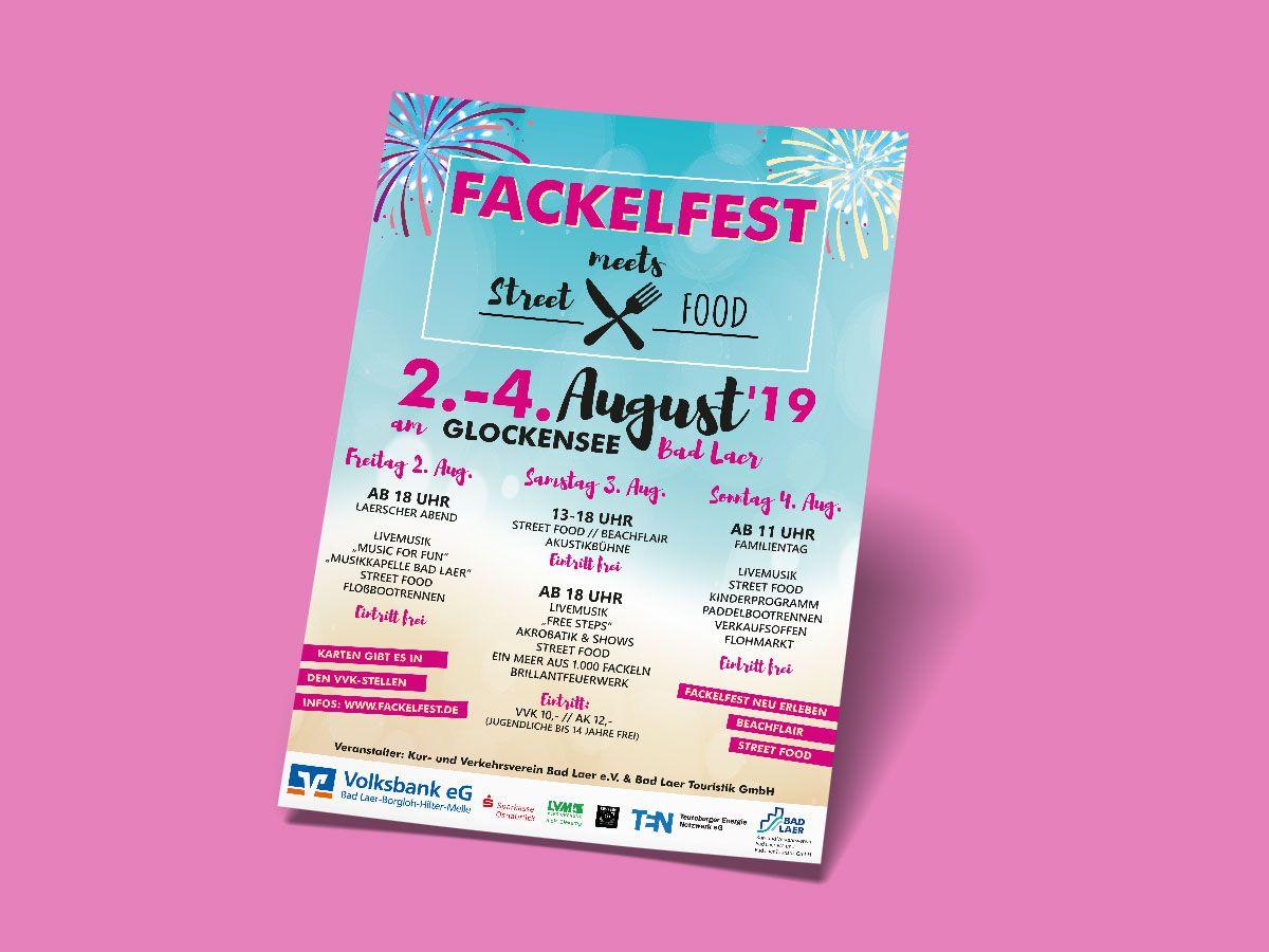Plakat für das Fackelfest Bad Laer