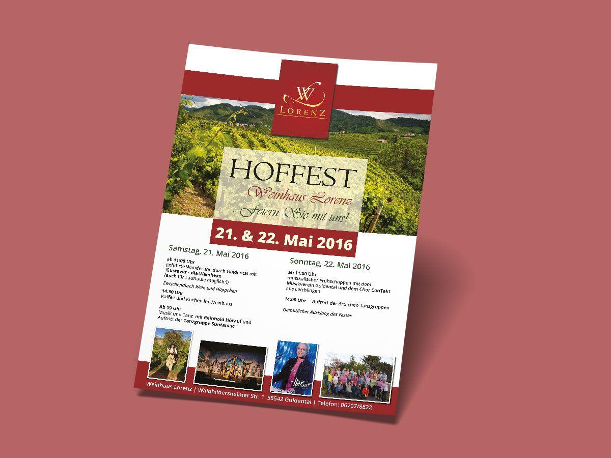 Plakat für das Weinhaus Loren Guldental