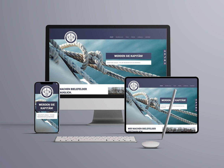 Website für die Bootsfahrschule Bielefeld OWL