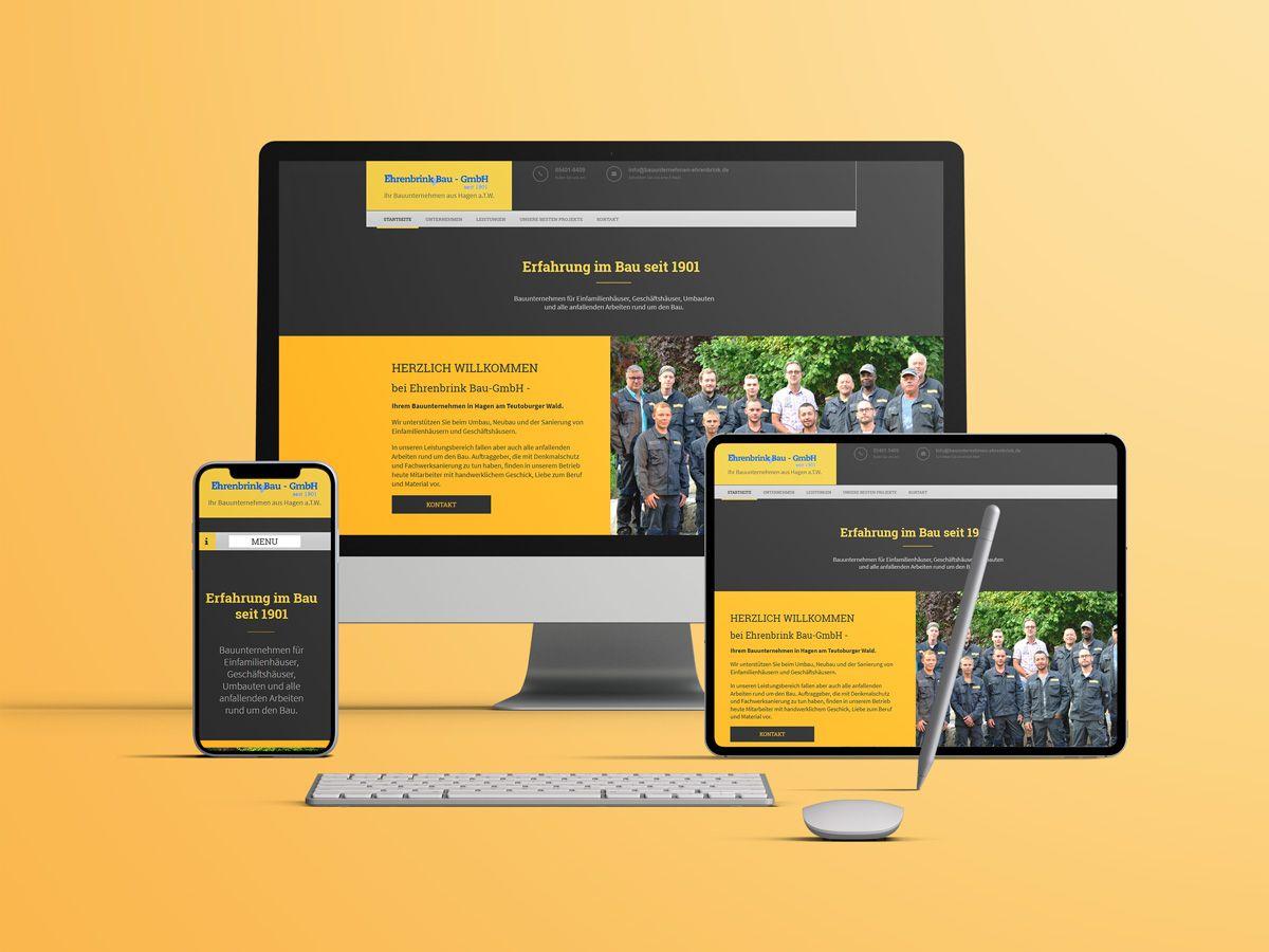 Website für Das Bauunternehmen Ehrenbrink aus Hagen a.T.W.