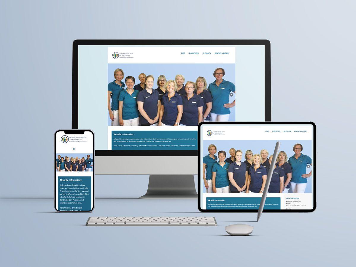 Website für die Gemeinschaftspraxis Harderberg Georgsmarienhütte