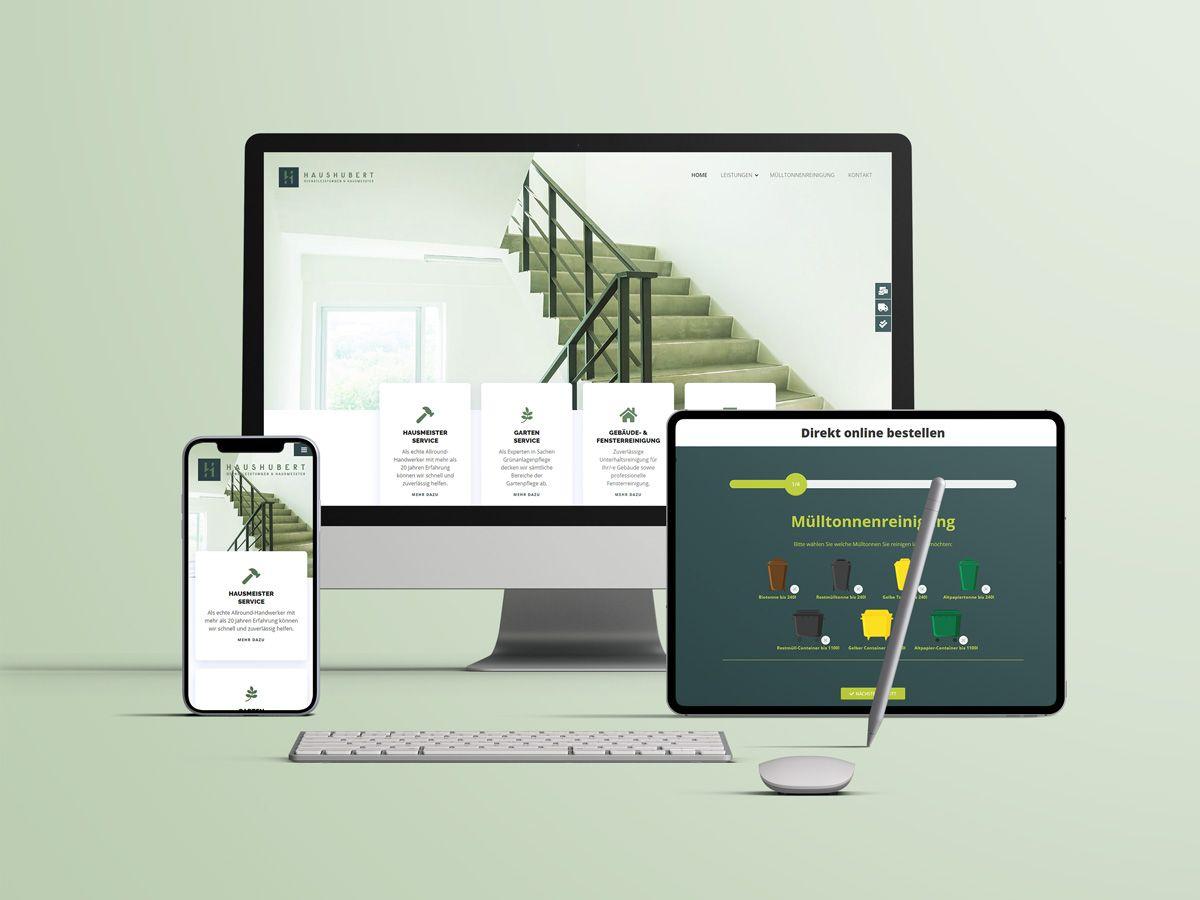 Website für die Haushubert GmbH aus Osnabrück