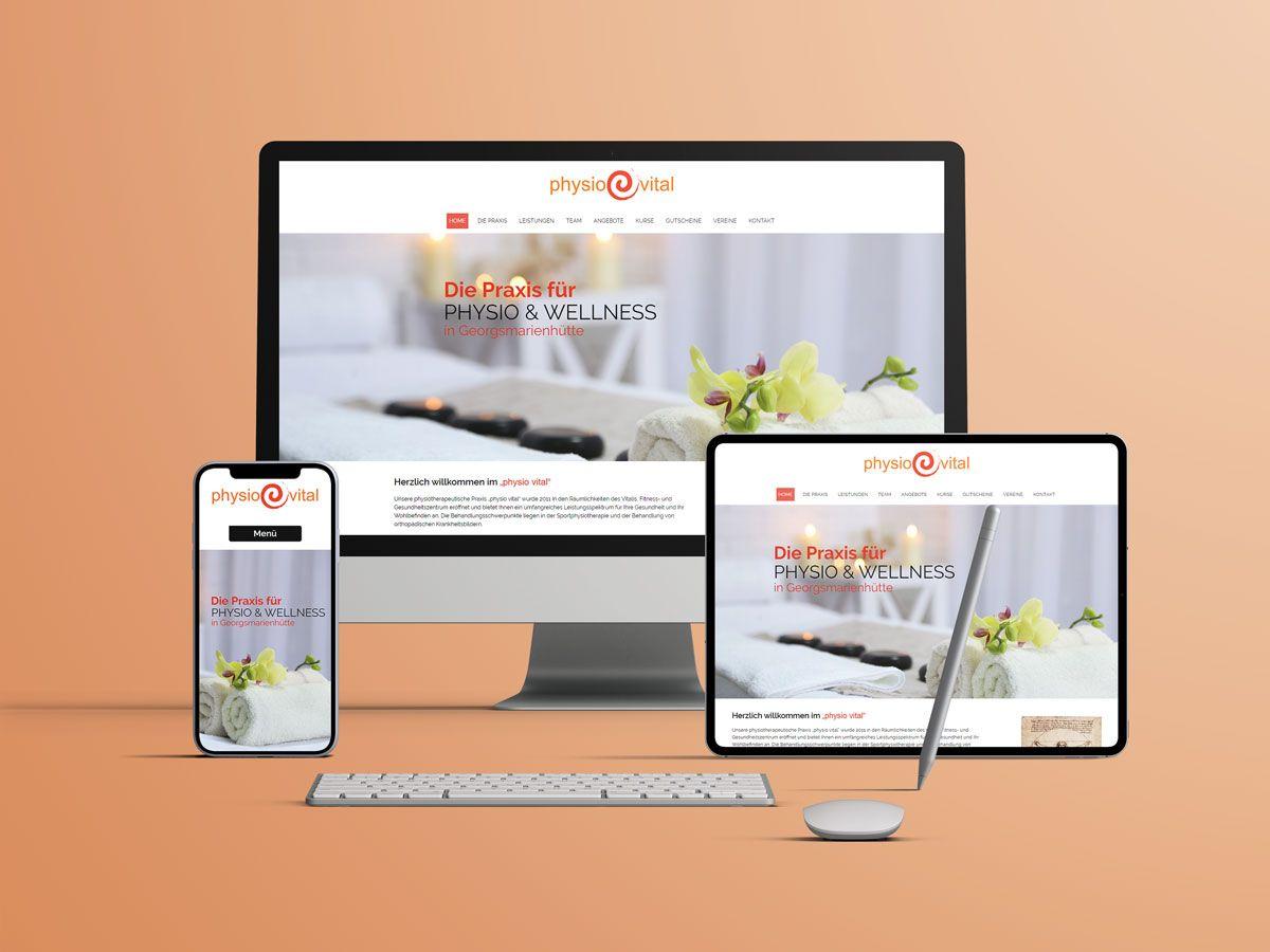 Website für die Praxis Physio Vital aus Georgsmarienhütte