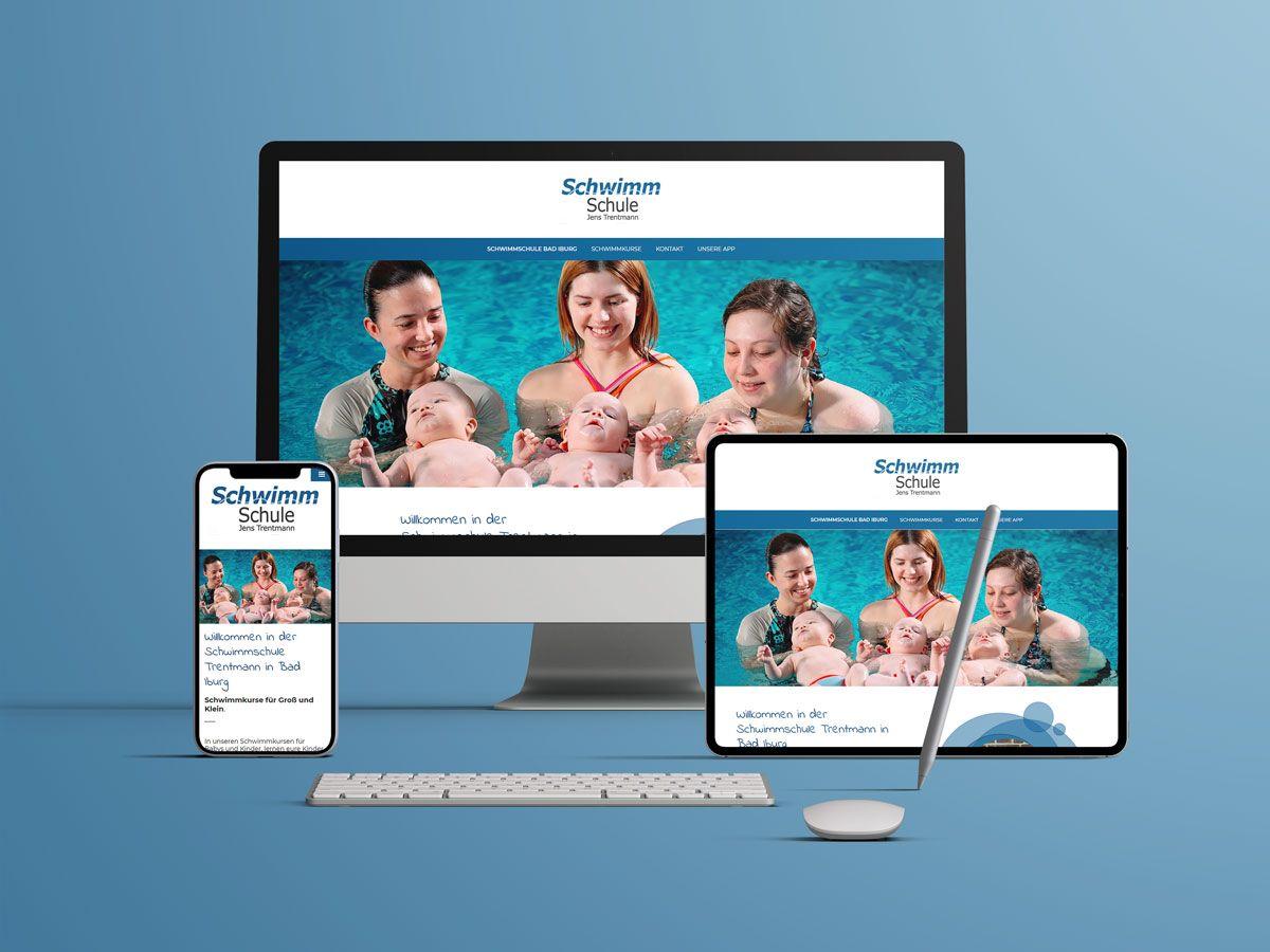 Website für die Schwimmschule Jens Trentmann aus Bad Iburg