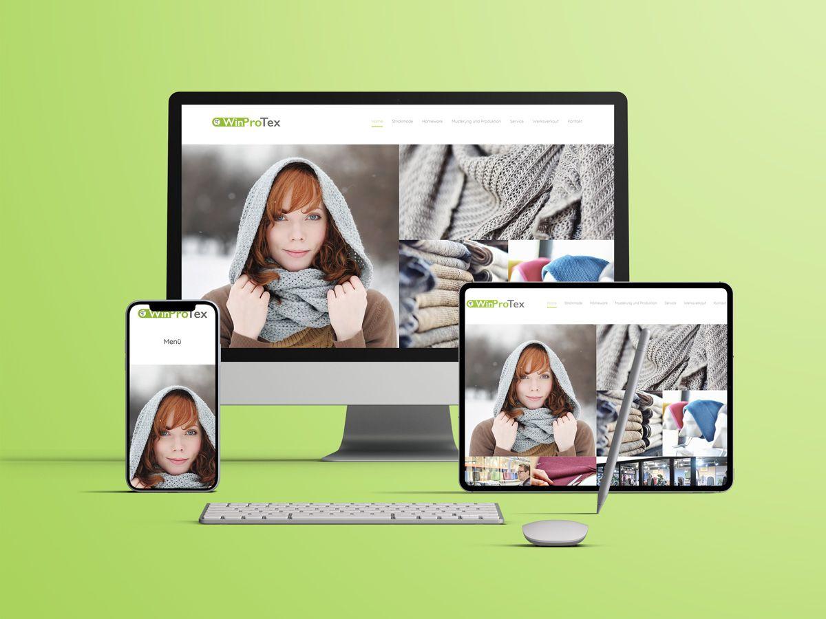 Website für die Strickerei WinProTex aus Hagen a.T.W.